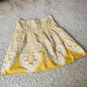 Downeast basics mustard skirt